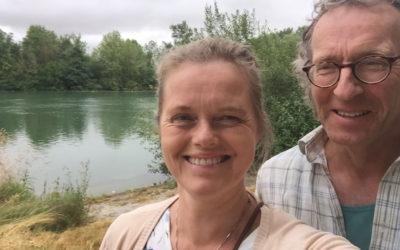 Vi smutter på Kundalini Yoga festival i Frankrig