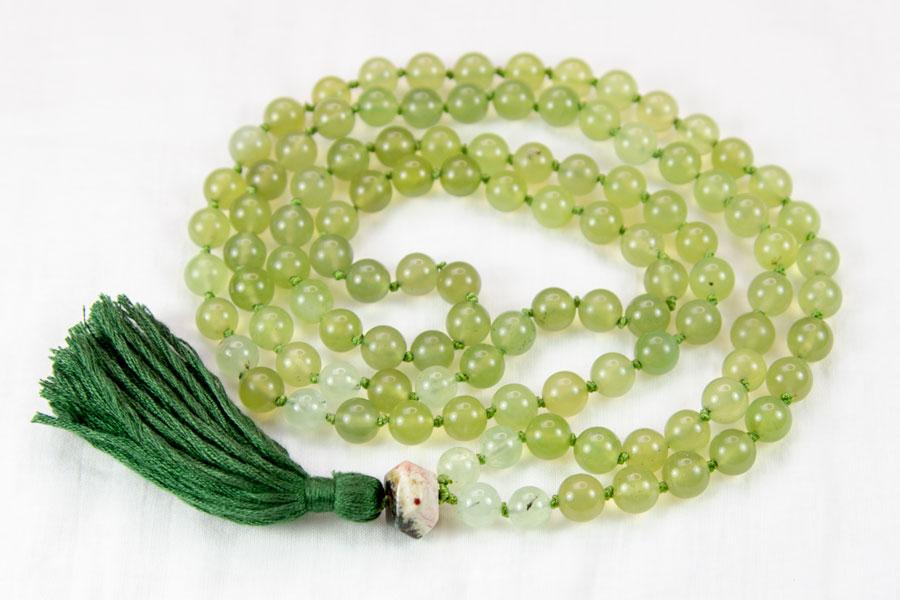 Personligt designet mala meditationskæde af gammel perlekæde