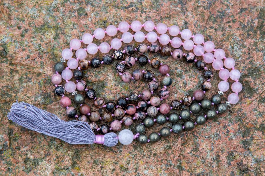 Mala Kit til Love & Abundance mala meditationskæde