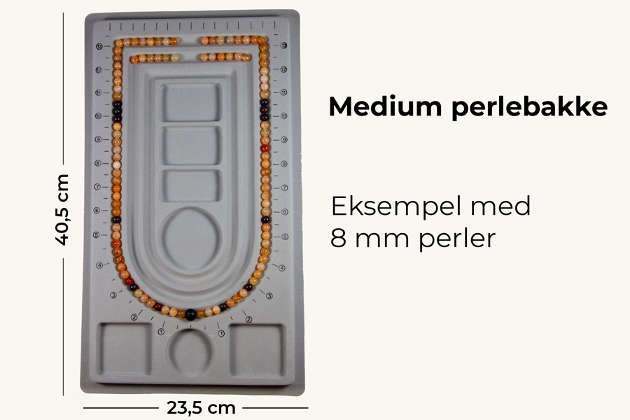 Medium perlebakke til mala oplægning