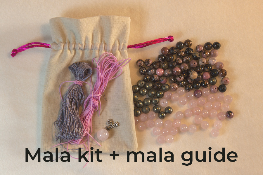 Mala kit rosenkvarts + mala guide