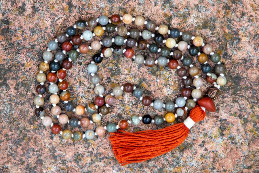 Ocean Jasper mala meditationskæde