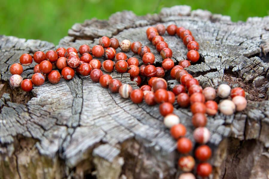 Rodchakra mala meditationskæde